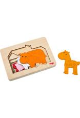 Haba Haba houten puzzel Dieren op de boerderij
