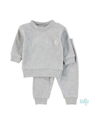 Feetje Feetje wafel pyjama grey melange