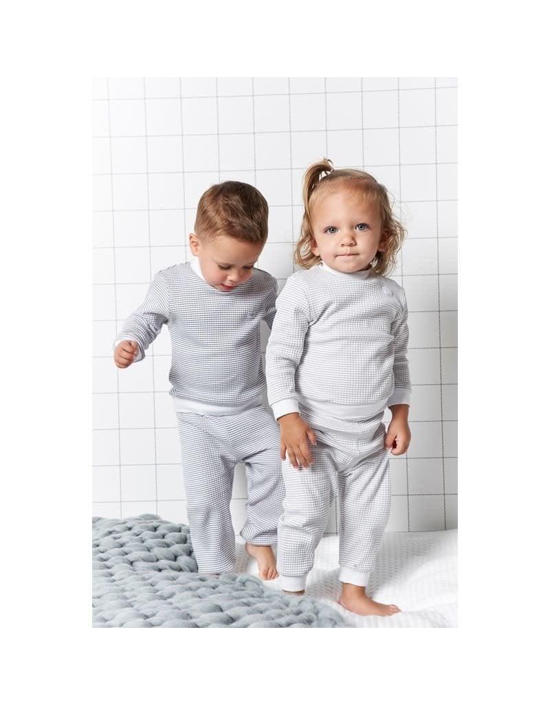 Feetje Feetje wafel pyjama grijs