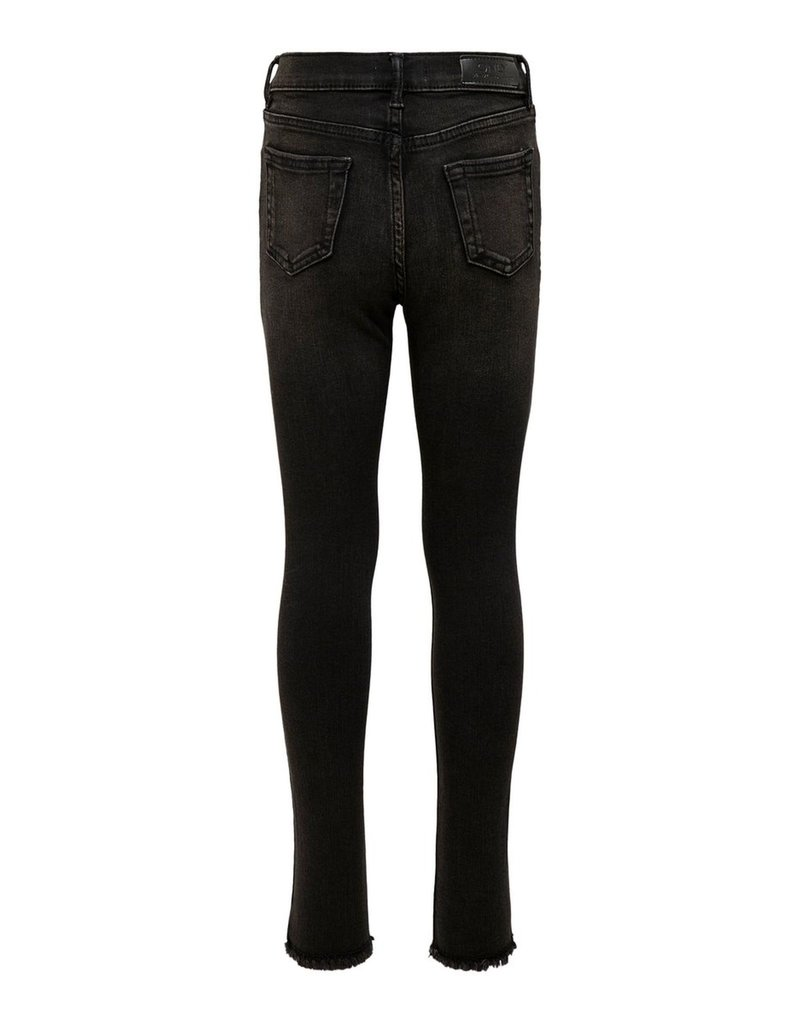 Kids Only Kids Only Konblush Skinny raw jeans 1099 black denim