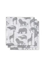 Jollein Jollein hydrofiel monddoekjes safari stone grey 3pck