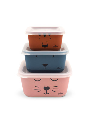 Jollein Jollein snackbox bamboe animal club (3pck)
