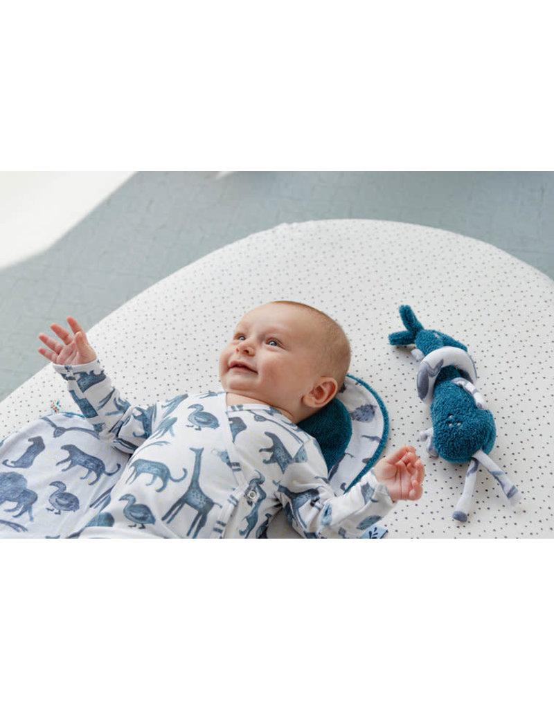 Snoozebaby Snoozebaby knuffeltje Gio giraffe mid blue