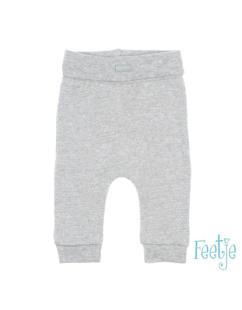 Feetje Feetje broek fancy knit Hello Sunshine grijs melange