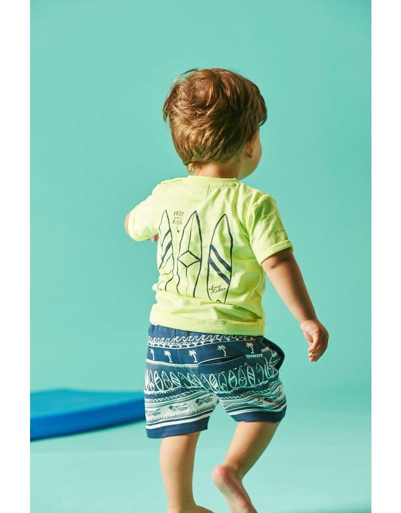 Feetje Feetje shirt Don't Worry Mini Wanderer geel