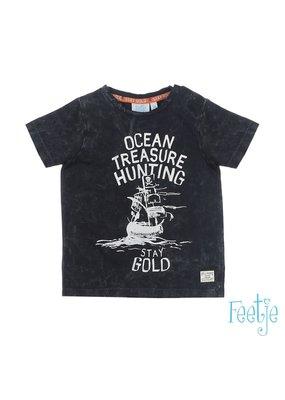 Feetje Feetje shirt Ocean Treasure Hunting Treasure Hunter antraciet