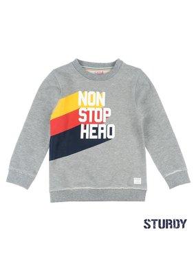 Sturdy Sturdy sweater Non Stop Hero Thrillseeker grijs melange