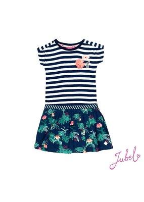 Jubel Jubel jurk streep aop Botanic Blush marine