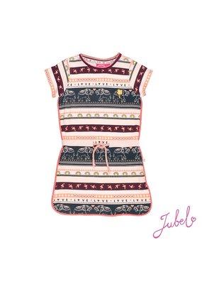 Jubel Jubel jurk streep Stargazer roze