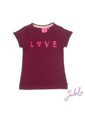 Jubel Jubel shirt Love Stargazer bordeaux