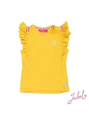 Jubel Jubel shirt ruches Stargazer geel