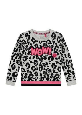 Quapi Quapi sweater Alize dark grey leopard