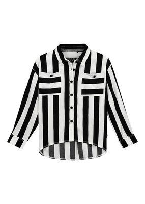 Levv Levv blouse Filou black white stripe