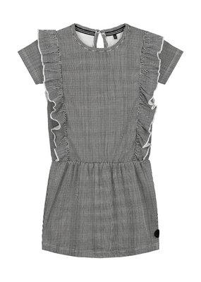 Levv Levv jurk Gea black white mini stripe