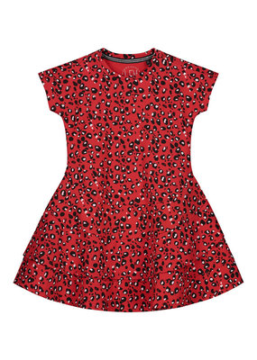 Levv Levv jurk Geesje fiery red animal