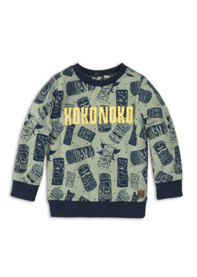 Koko Noko Koko Noko sweater faded green all over print