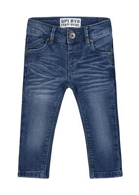 Quapi Quapi jeans Bouwe grey melee letter