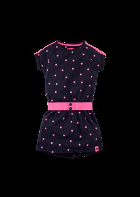 Z8 Z8 jurk Florinde noisy navy/neon pink/dots