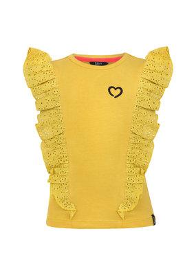 Beebielove Beebielove shirt Ruffle yellow