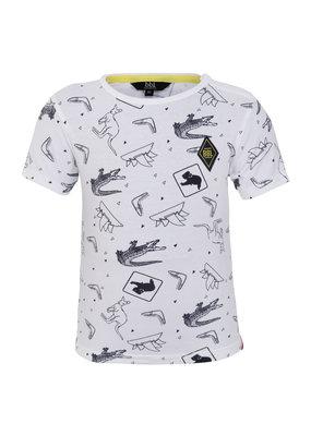 Beebielove Beebielove shirt Kangaroo white