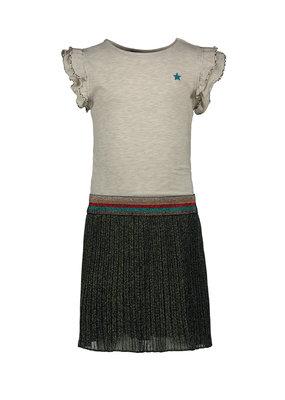 Like Flo Like Flo dress ruffle jersey with lurex plisse skirt ocean