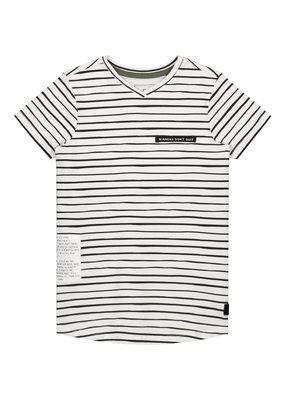 Levv Levv shirt Farley white painted stripe