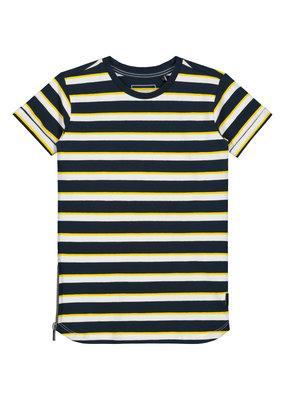 Levv Levv shirt Gianni dark navy stripe