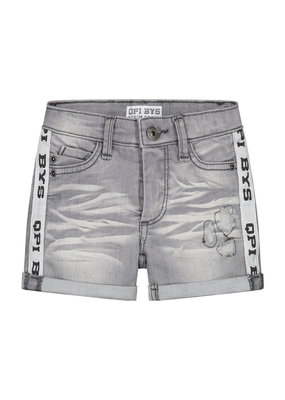 Quapi Quapi jeans short Brecht light grey denim