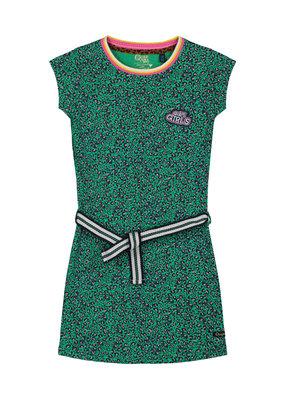 Quapi Quapi jurk Aafje jungle green leopard