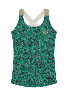 Quapi Quapi singlet Amielle jungle green leopard