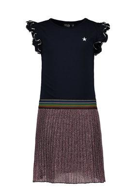 Like Flo Like Flo dress ruffle jersey with lurex plisse skirt multi