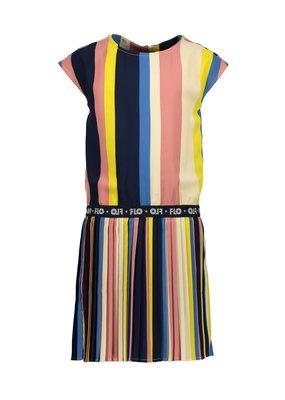 Like Flo Like Flo dress multi stripe with plisse skirt multi
