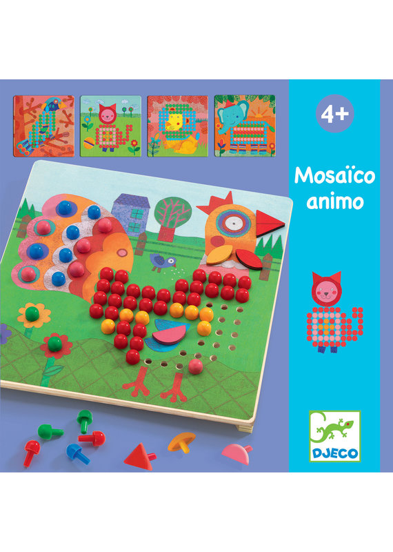 Djeco Djeco mozaiekpuzzel dieren