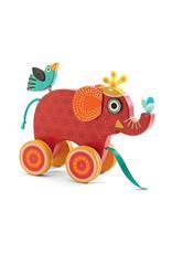 Djeco Djeco houten trekfiguur olifant Indy dj06231