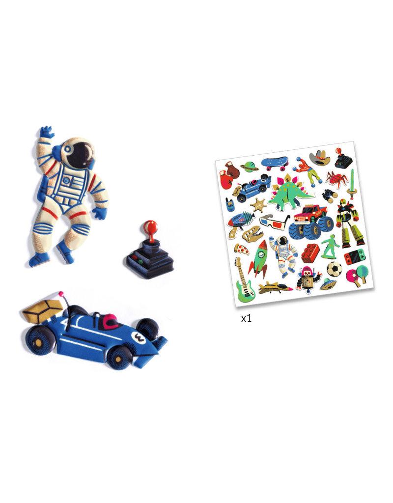 Djeco Djeco stickers retro speelgoed dj09263