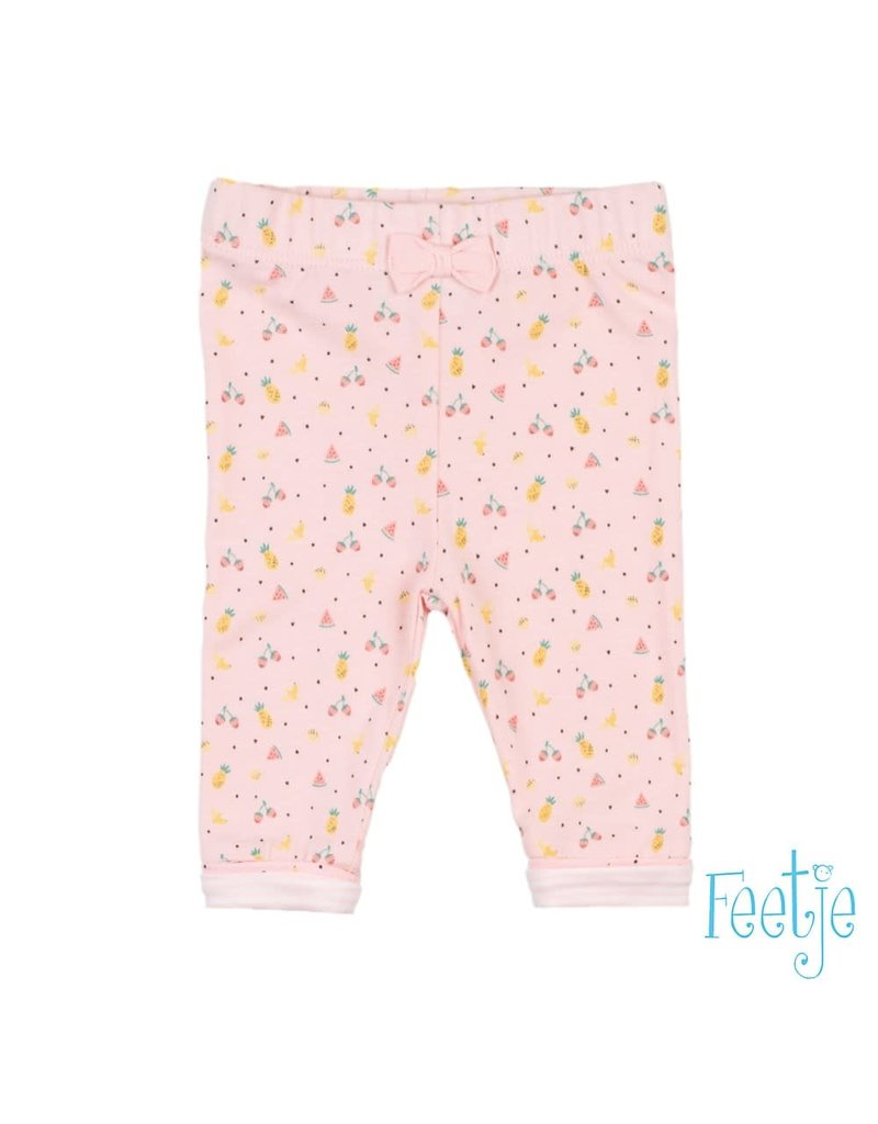 Feetje Feetje legging aop Sweet by nature roze