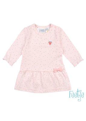 Feetje Feetje jurk streep Sweet by nature roze