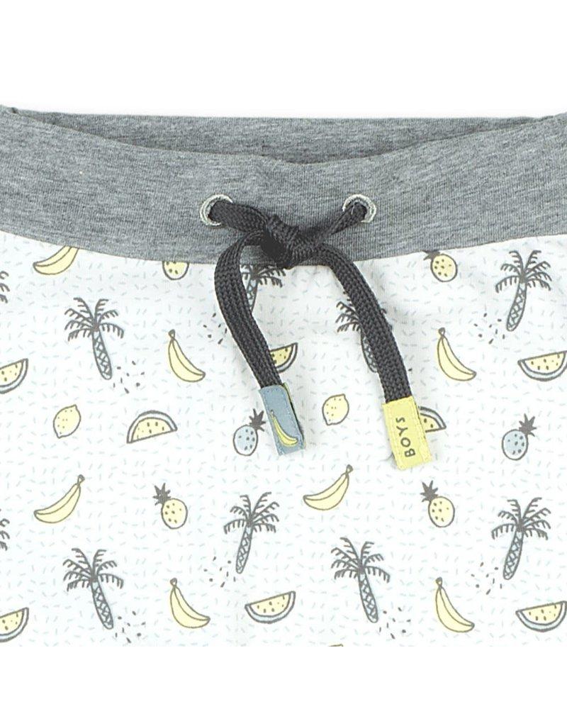 Feetje Feetje broek aop Go Bananas wit