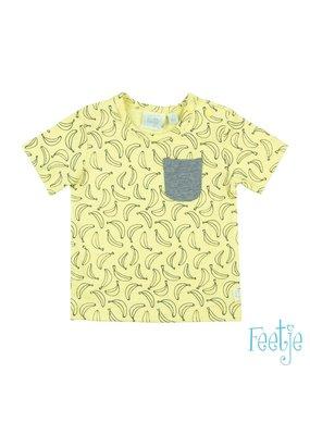 Feetje Feetje T-shirt Go Bananas aop geel
