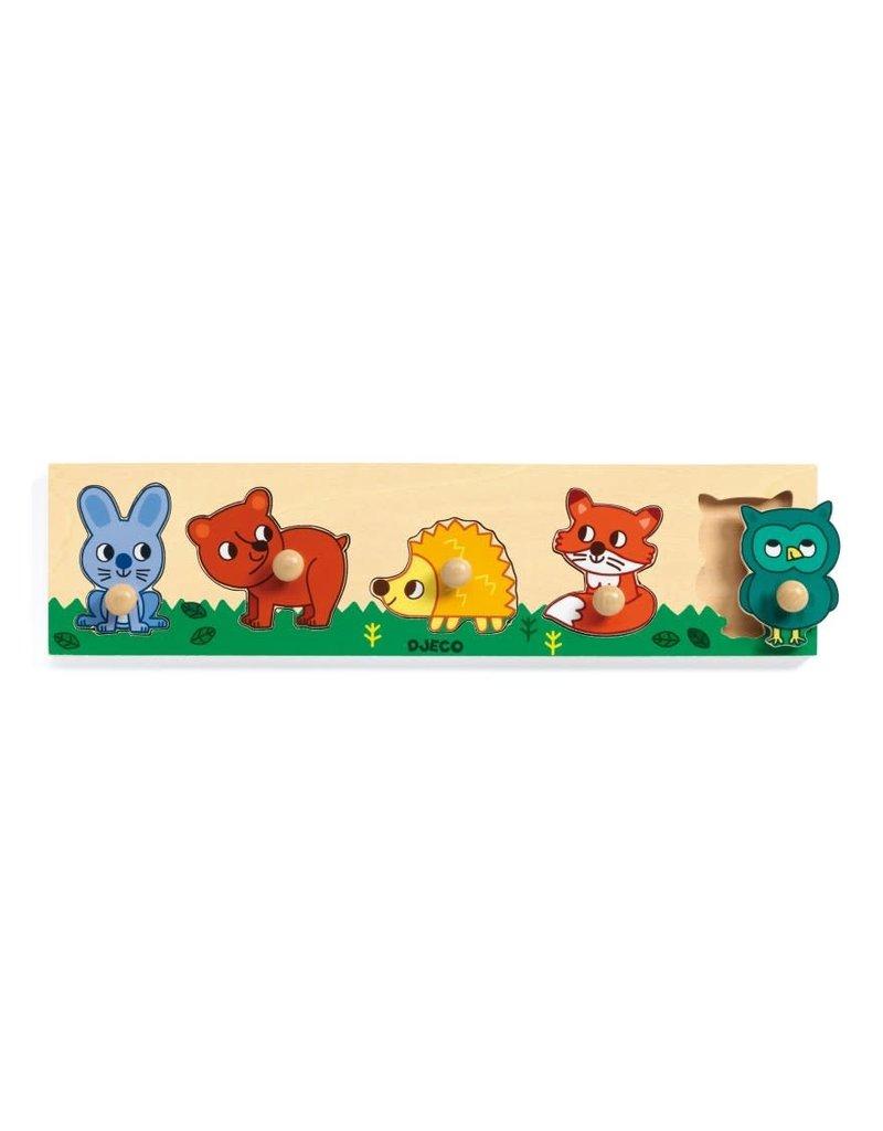 Djeco Djeco houten puzzel Forrest 'n Co dj01119
