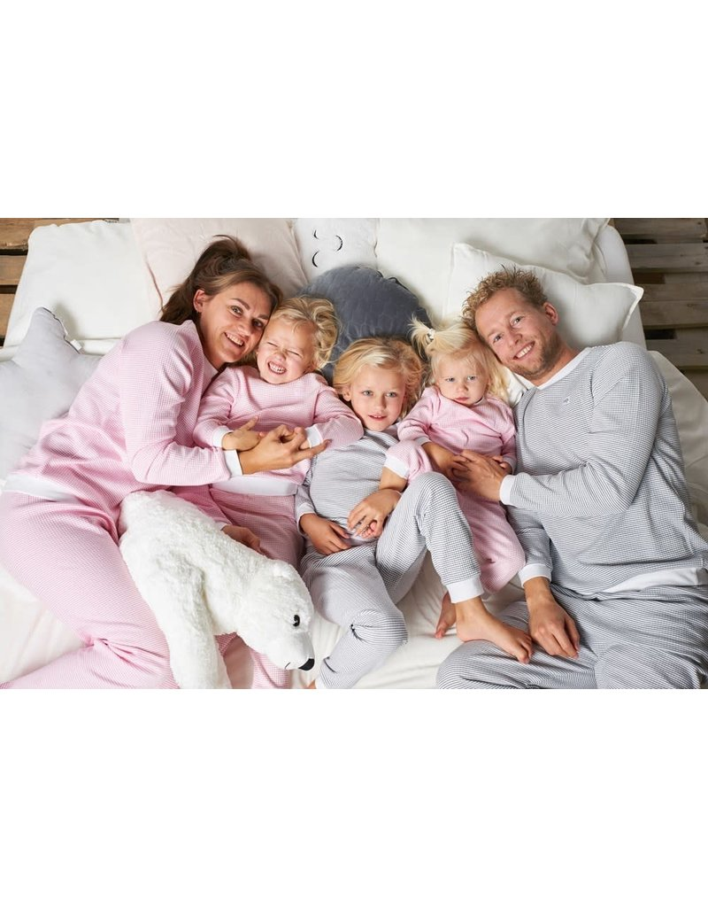 Feetje Feetje wafelpyjama Family Edition Roze