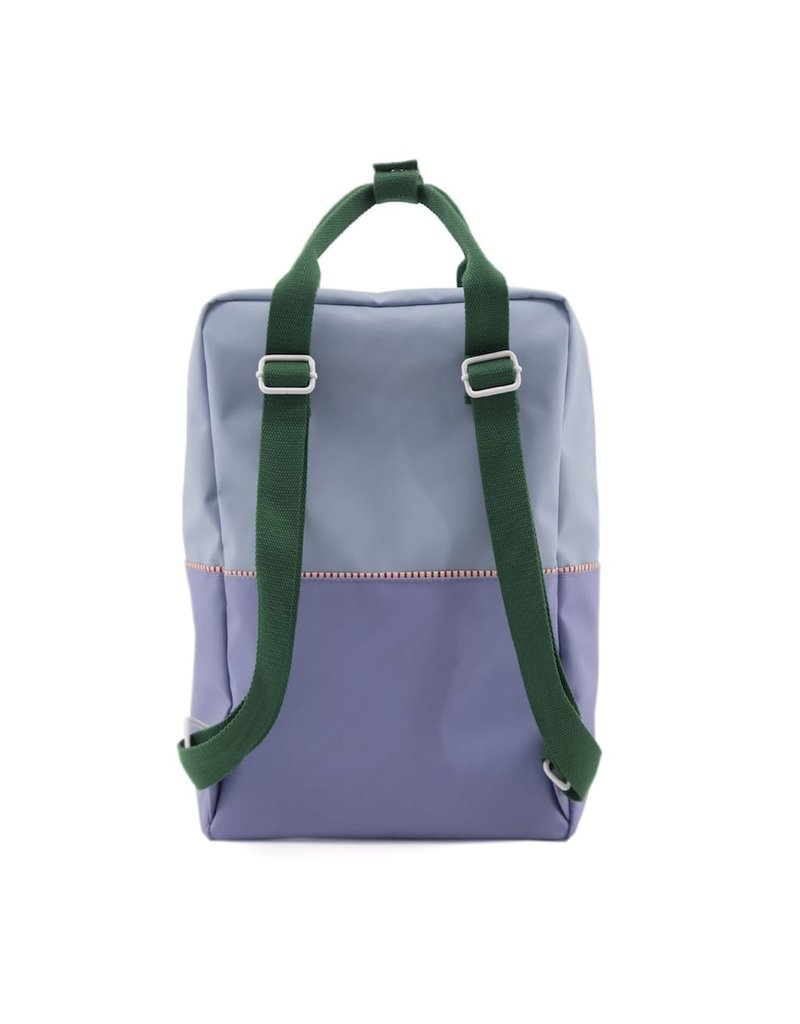 Rilla go Rilla Sticky Lemon backpack colour block large heckles blue | moustafa purple | movie green