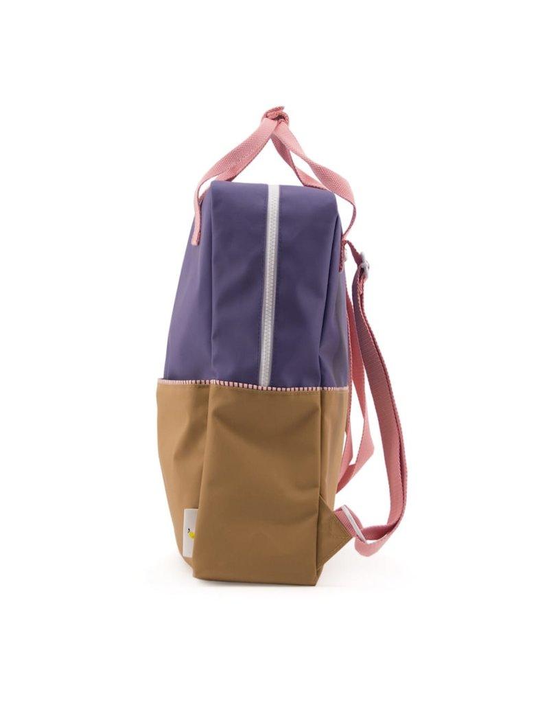 Rilla go Rilla Sticky Lemon backpack colour block large lobby purple | panache gold | puff pink