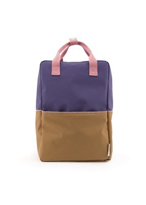 Rilla go Rilla Sticky Lemon backpack colour block large lobby purple | panache gold | puff pink