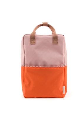 Rilla go Rilla Sticky Lemon backpack colour block large pastry pink | royal orange | chocolat au lait