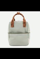 Rilla go Rilla Sticky Lemon backpack small sprinkles sage green | cinnamon brown