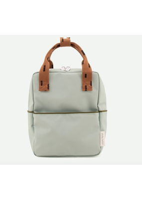 Rilla go Rilla Sticky Lemon backpack small sprinkles sage green | cinnamon brown