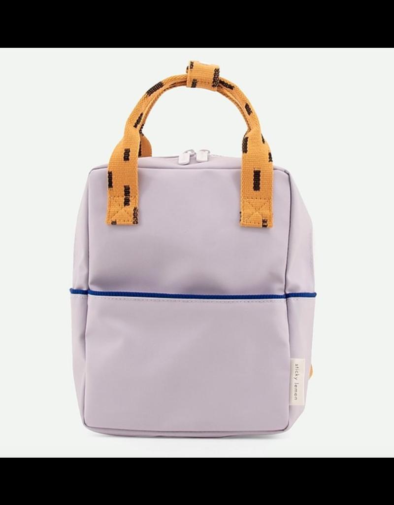 Rilla go Rilla Sticky Lemon backpack small sprinkles lavender | apricot orange