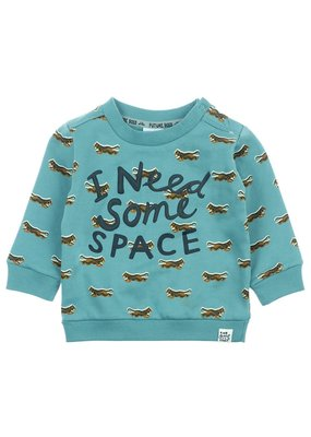 Feetje Feetje sweater i need jade groen Spacelab