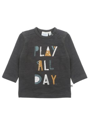 Feetje Feetje longsleeve play all day antraciet Cars